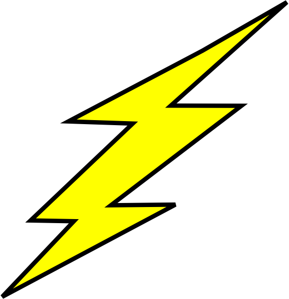Flash clipart symbol outline #1