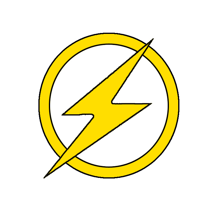 Flash clipart symbol outline #9