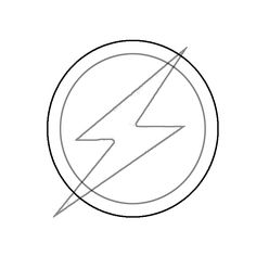Flash clipart symbol outline #10