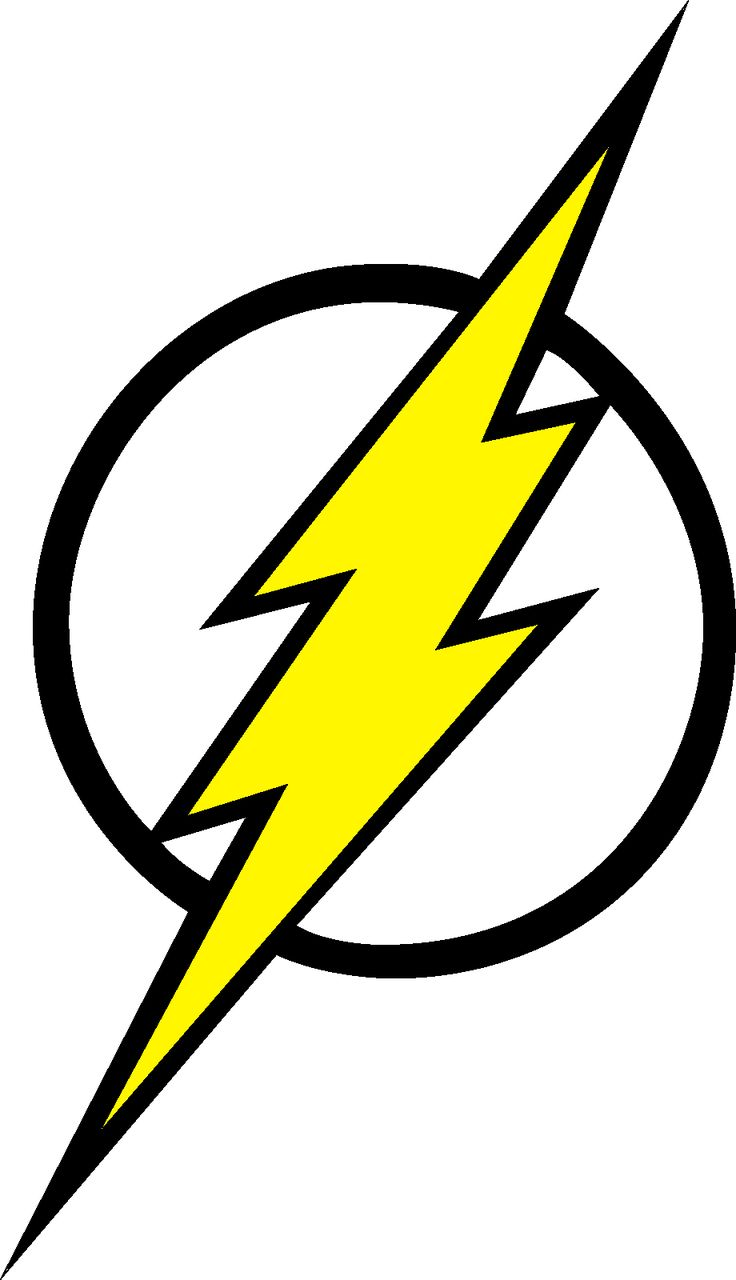 Flash clipart symbol outline #2
