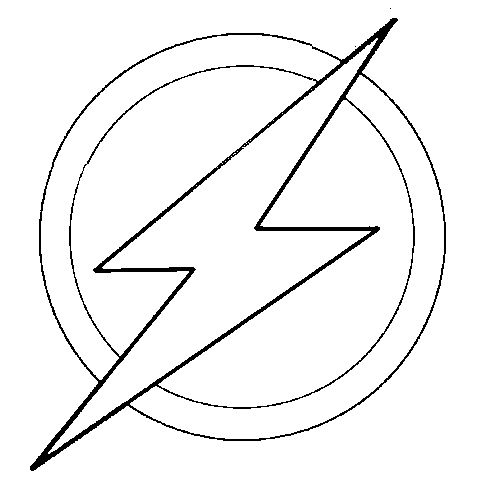 Flash clipart symbol outline #5