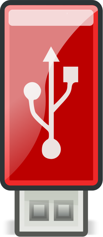 Flash clipart the red Free Art Red USB Drive