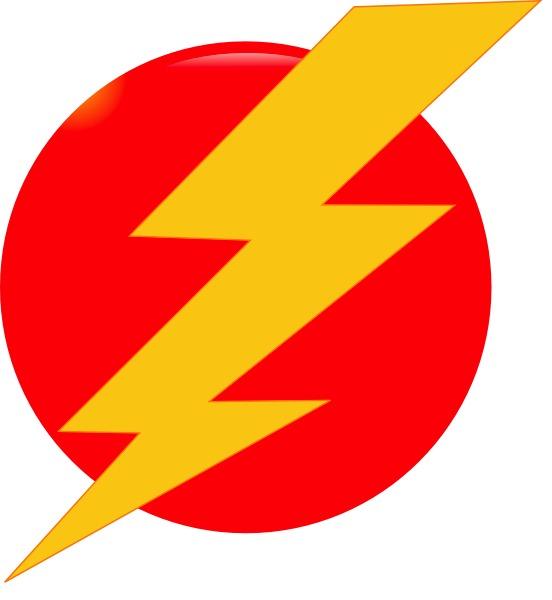 Flash clipart the red Clip Free Lightning Bolt Art