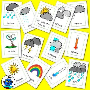 Flash clipart thunder and lightning Teaching sunny cloudy typhoon Spanish