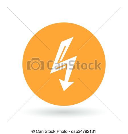 Thunder clipart arrow Illustration thunderbolt sign flash Vectors