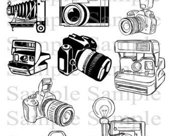 Retro clipart photographer #12