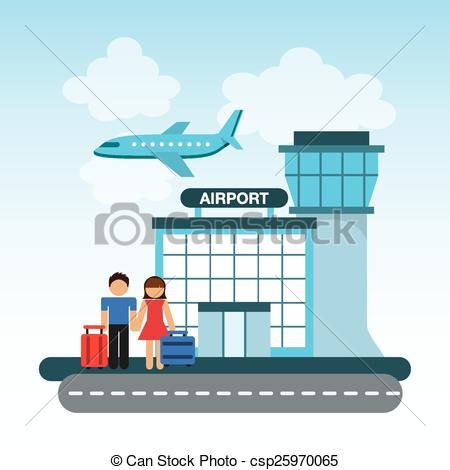 Aircraft clipart airport terminal #2