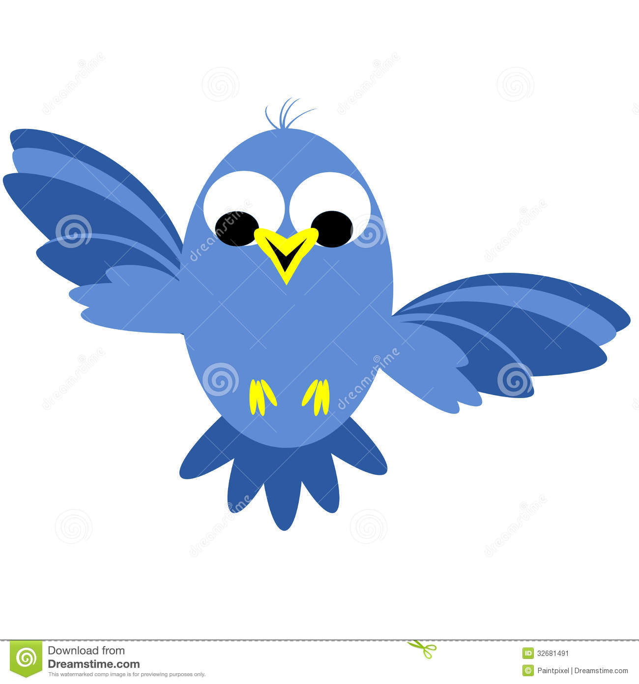 Bluebird clipart early bird Birds flying Yellow Flying Clipart