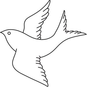 Pigeon clipart dove outline Page Coloring Clipart Drawing Bird