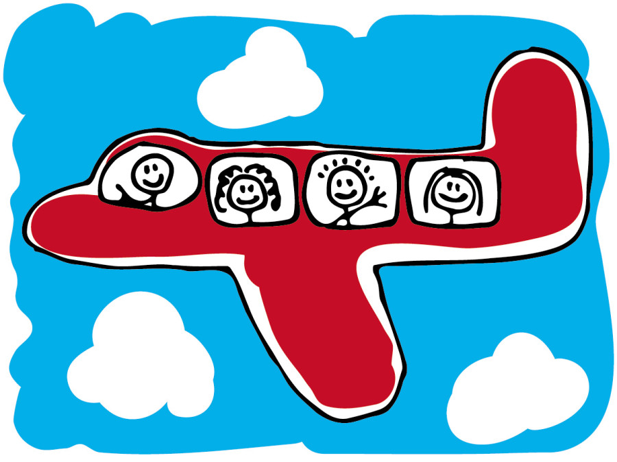 Vacation clipart flight Traveling Clip Free plane Free