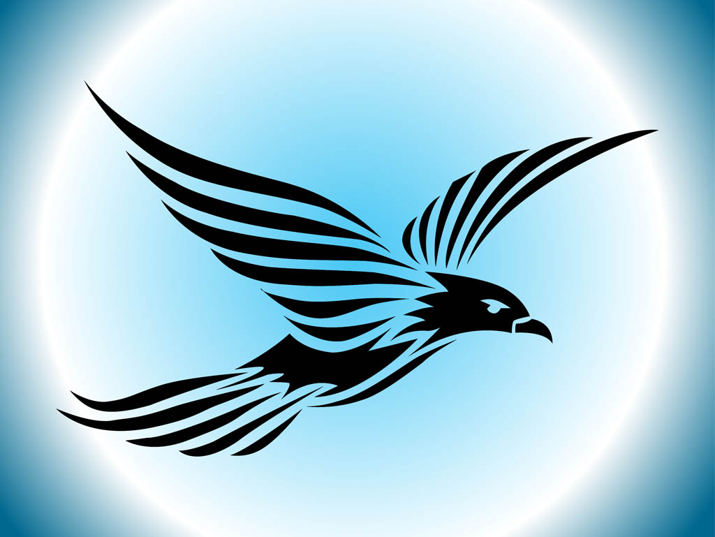 Bird clipart falcon Silhouette Flying Bird flying Abstract