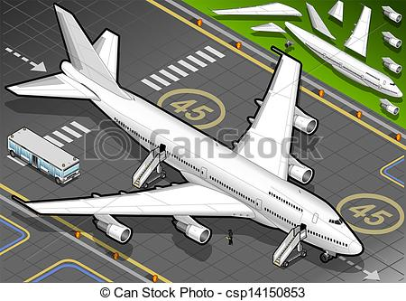 Drawn aircraft airplane landing #2