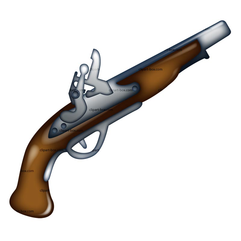 Pirate clipart pistol #1