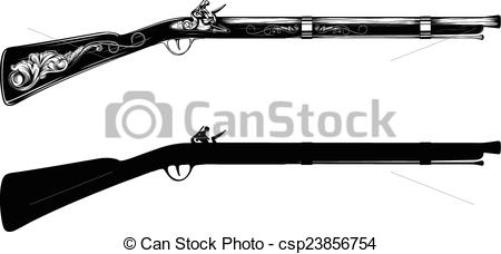 Rifle clipart old #4