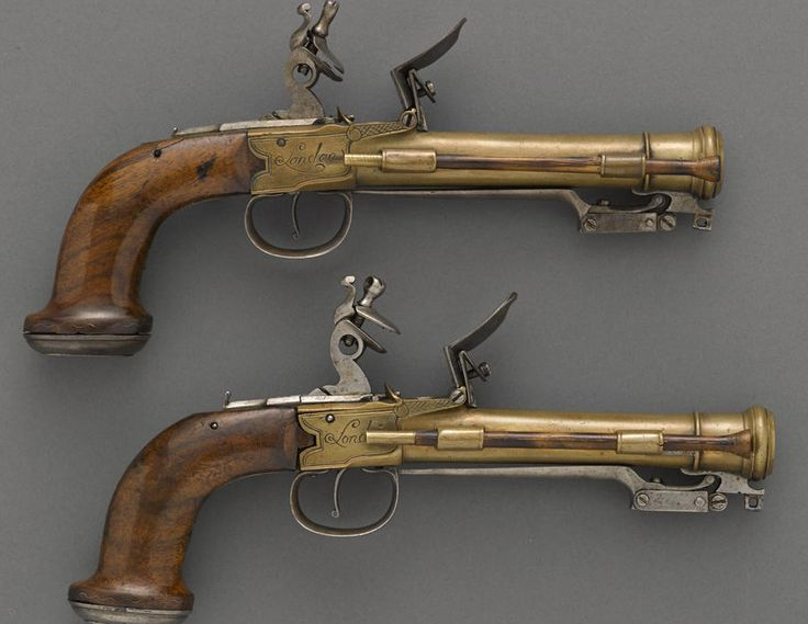 "Flint Lock clipart bayonet 87 with flintlock Signed """