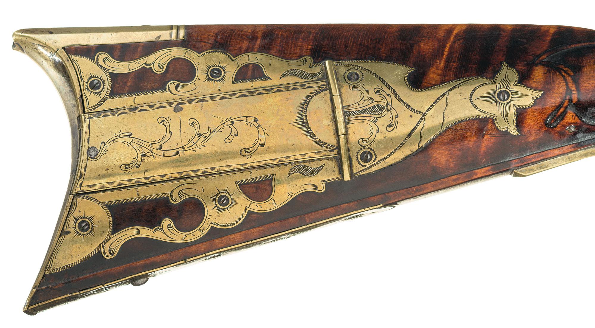 Flint Lock clipart carbine Wood with Golden Long Peter