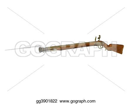 Flint Lock clipart carbine Rifle Stock flintlock Drawing Illustration