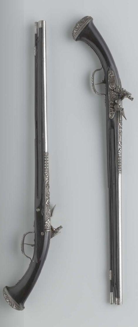 Flint Lock clipart colonial Pistols 1645 Pair of 1650