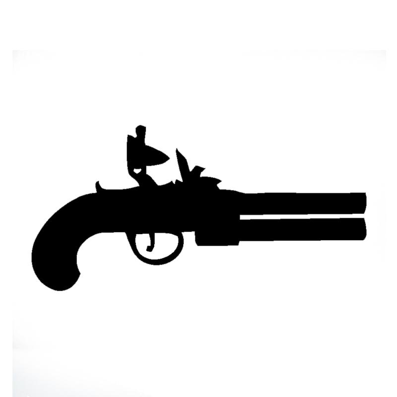 Flint Lock clipart original Pistol Truck Vinyl Funny Laptop