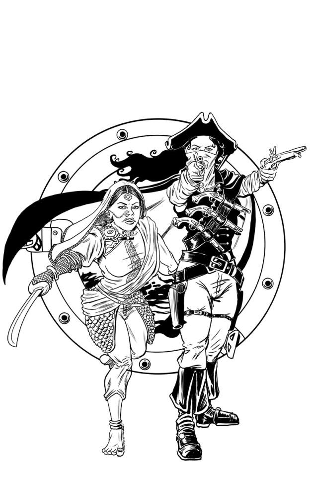 Flint Lock clipart original Flintlock Illustration Art Cover Original