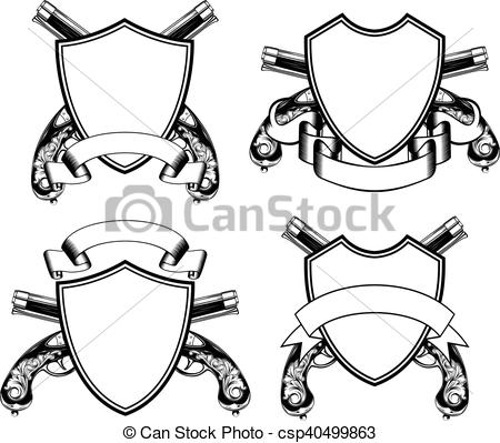 Flint Lock clipart pistol Old Art and of and