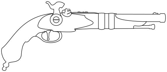 Flint Lock clipart pistol Pistol pistol flintlock lineart