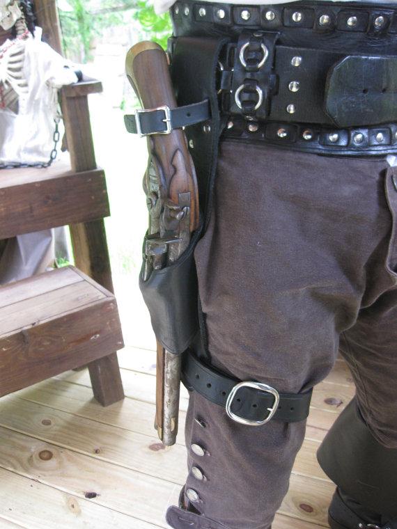 Flint Lock clipart western Leather Leg Flintlock Holster