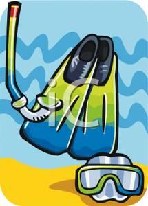 Fins clipart goggles Fins Image: a Snorkel Goggles