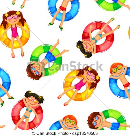 Floating clipart rubber ring  Clipart kids pattern kids