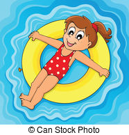 Floating clipart rubber ring 610 2 water Illustrations illustration