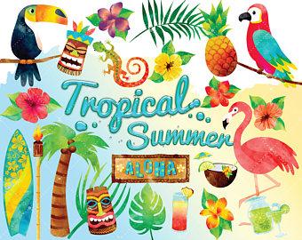 Floating clipart beach theme Tropical Summer Clip Clipart Clipart