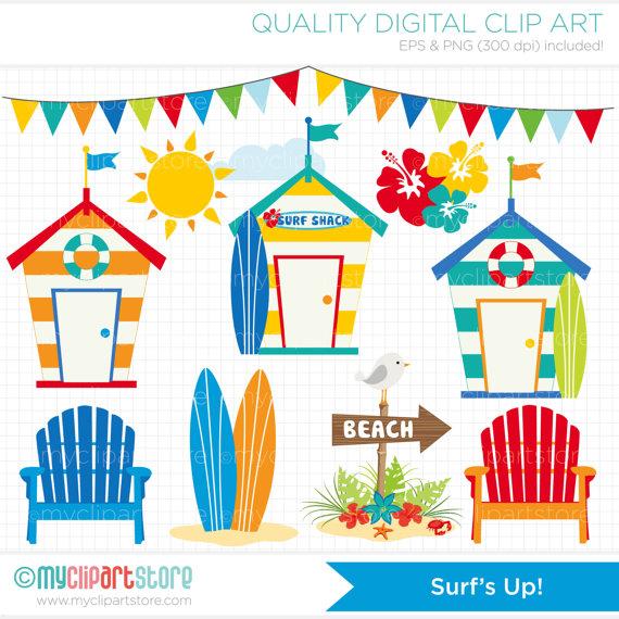 Floating clipart beach theme Adirondack chairs vector summer Pinterest
