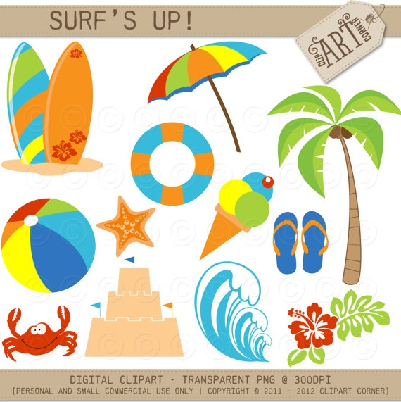 Floating clipart beach theme Surfboards (DC about on Surfs