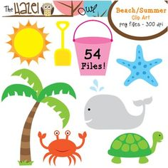 Floating clipart beach theme Teachers Ocean/Beach Alphabet Word Summer