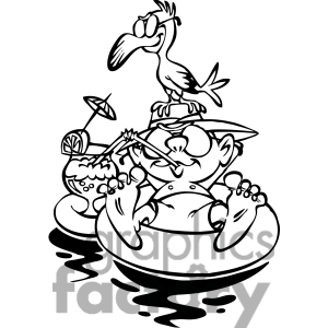 Floating clipart black and white Panda Clipart Clipart Summer And