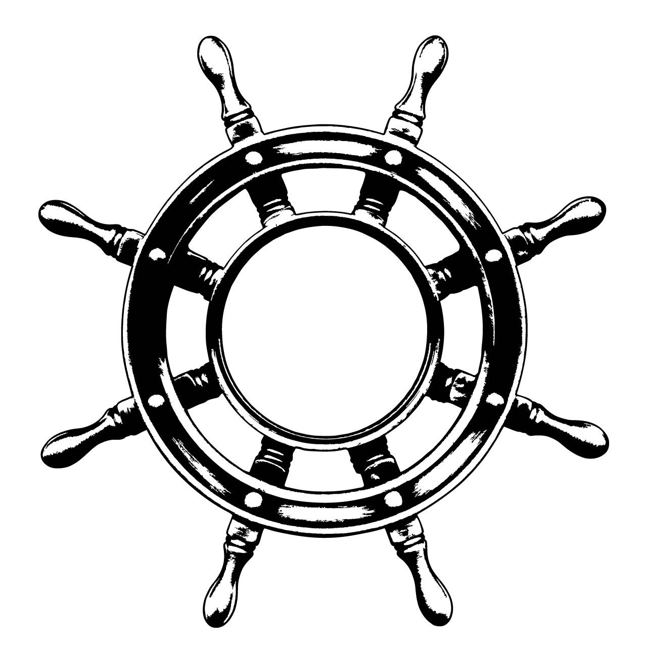 Drawn anchor ship wheel WHEEL STICKER PIRATE Details PIRATE