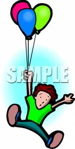 Floating clipart boy Away Boy Floating with Picture: