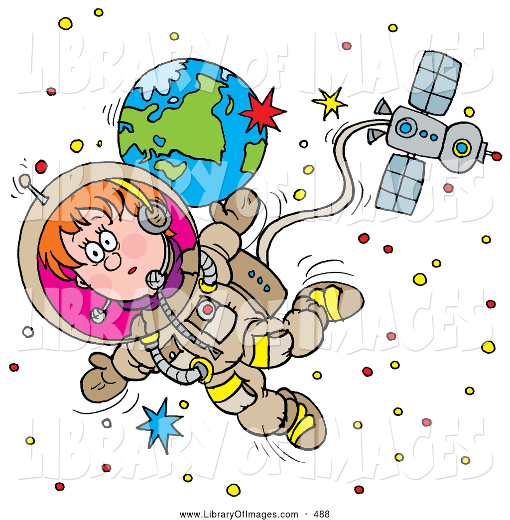 Spacesuit clipart space exploration Astronaut Floating of of Clip