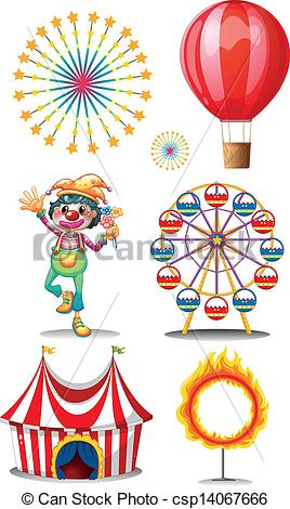 Floating clipart carnival Carnival Vector Clip with clown