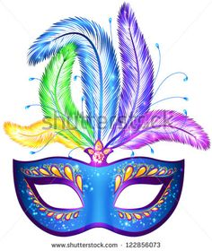 Floating clipart carnival Mask Clipart Carnival art feathers