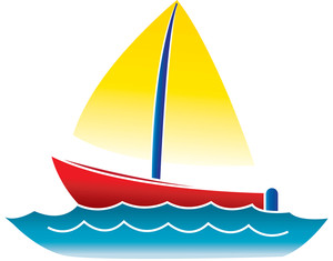 Illustration clipart boat Art Boat a water on