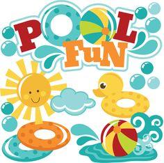Floating clipart kiddie pool Kid floats Swimming fun Pool