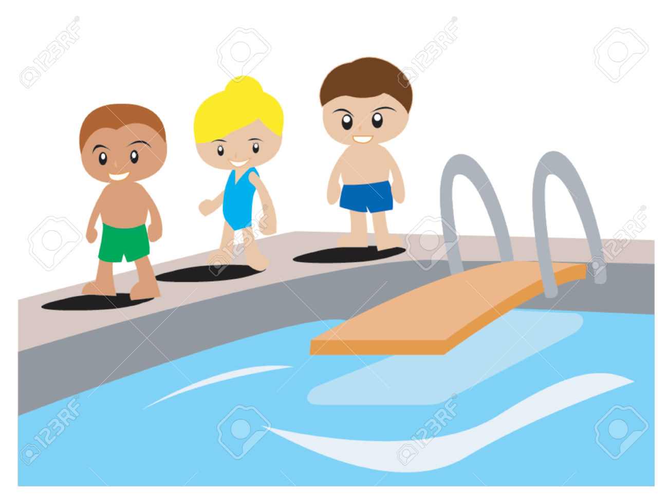 Floating clipart kiddie pool Swimming Boy Clipart Free family