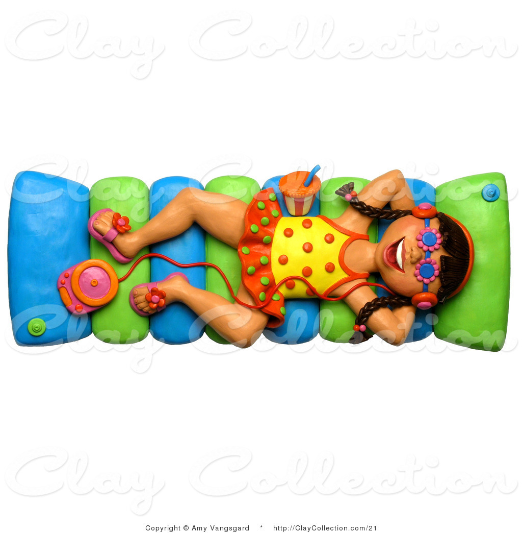 Floating clipart pool raft A Illustration a to on