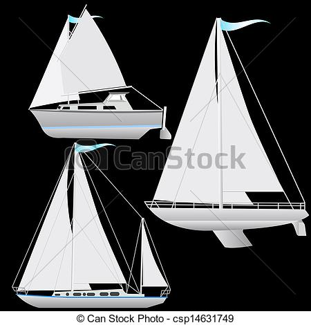 Floating clipart sail Vector Vector Vector EPS Set