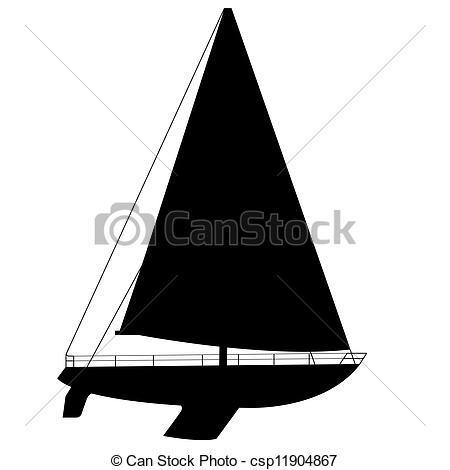 Floating clipart sail Art illustration Vector Clip of