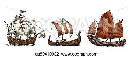 Floating clipart sail Ships sailing Set sailing Caravel