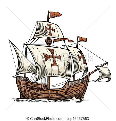 Sailing clipart float Ship Sailing Clip of Santa