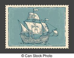 Floating clipart sail The on Sailing ship Vector