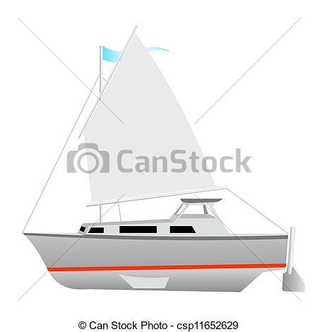 Floating clipart sail Illustration Vector Sailing boat of